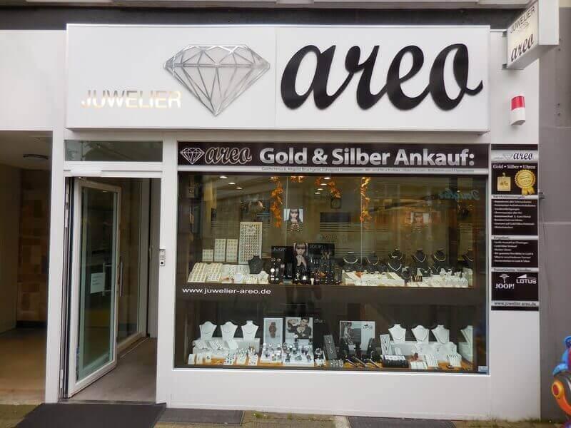 Das Ladenlokal von Juwelier Areo